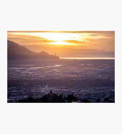 Salt Lake City Sunset Photographic Print