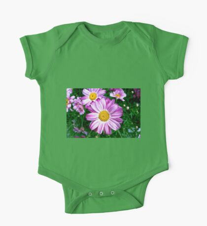 Beautiful Purple Daisies One Piece - Short Sleeve
