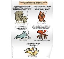 Mothers' Day with Animals Poster