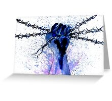 Hand with Barbed Wire Greeting Card