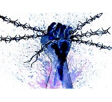 Hand with Barbed Wire Photographic Print