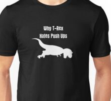Jurassic T-Rex hates push-ups in the park Tee Unisex T-Shirt