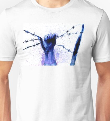 Hand with Barbed Wire 2 Unisex T-Shirt