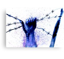 Hand with Barbed Wire 2 Canvas Print