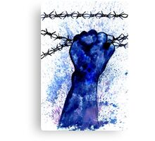 Hand with Barbed Wire 3 Canvas Print