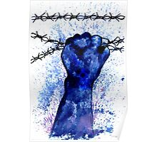 Hand with Barbed Wire 3 Poster