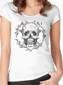 Life is strange Chloe skull Women's Fitted Scoop T-Shirt
