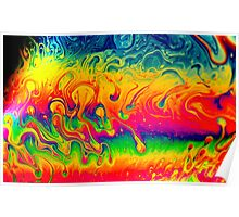 Psychedelic Colors Poster