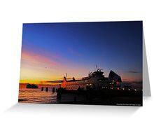 Cross Island Ferry Mary Ellen At Dawn | Orient Point, New York Greeting Card