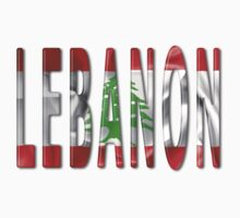 Lebanon Word With Flag Texture One Piece - Long Sleeve