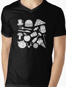 foodie (b&w) 2 Mens V-Neck T-Shirt