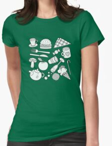 foodie (b&w) 2 Womens Fitted T-Shirt
