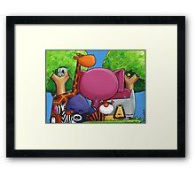 Splatter Zoo Framed Print