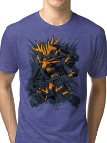 Gundam Unicorn Banshee Tri-blend T-Shirt