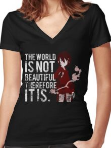 Kino's journey Women's Fitted V-Neck T-Shirt