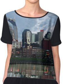 Nashville Skyline with Reflection Chiffon Top