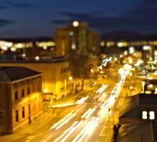 Davey Street Hobart - Night Sticker