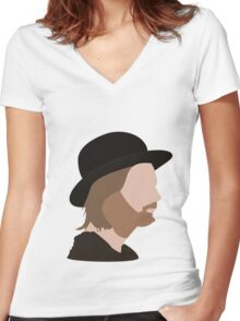 thm.  Women's Fitted V-Neck T-Shirt