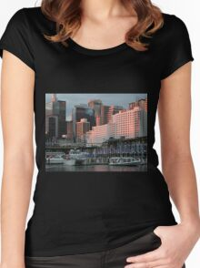 Darling Harbour sunset, Sydney, Australia Women's Fitted Scoop T-Shirt