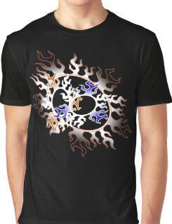 Orange & Blue Fire Graphic T-Shirt