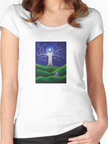 Full Moon Dreaming Women's Fitted Scoop T-Shirt