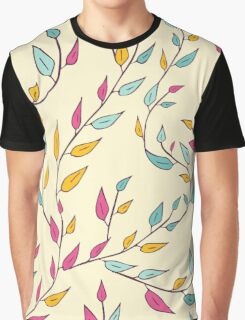 Cute floral pattern with leaves on branches. Graphic T-Shirt