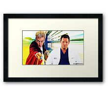 Grey's Anatomy & Doctor Who; Alex Karev and The Doctor Framed Print