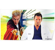 Grey's Anatomy & Doctor Who; Alex Karev and The Doctor Poster