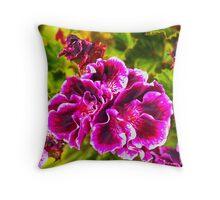 Purple-pink Petals Throw Pillow