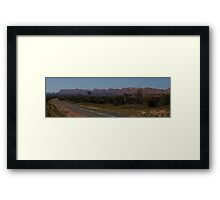The West MacDonnell Ranges Framed Print