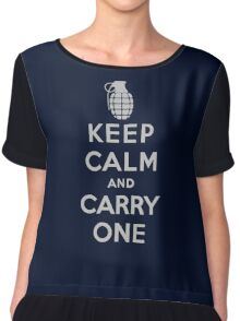 Keep Calm and Carry One Chiffon Top
