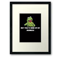 Kermit Meme Framed Print