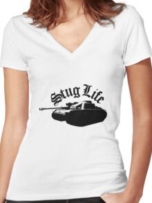 The StuG life Women's Fitted V-Neck T-Shirt