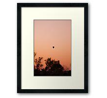 Hot Air Balloon Ride at Dawn Framed Print