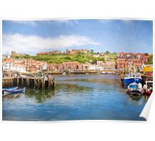 Whitby Harbour, Yorkshire, England Poster