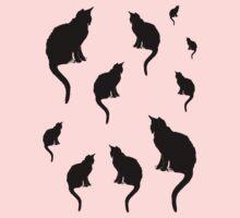 Black Cats One Piece - Short Sleeve