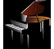 BlAck iN PIaNO Photographic Print