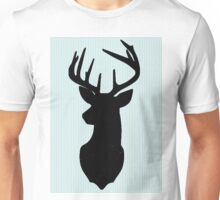 Deer and antler silhouette Unisex T-Shirt