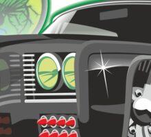 Green Hornet Black Beauty caricature Sticker