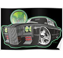 Green Hornet Black Beauty caricature Poster