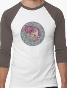 The Cheshire Cat  Men's Baseball ¾ T-Shirt