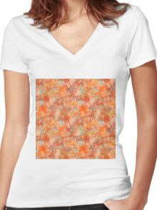 AUTUMN Women's Fitted V-Neck T-Shirt