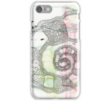 Spiralling into Pink & Green iPhone Case/Skin