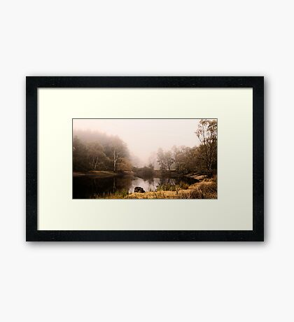 Foggy Welcome to the 'Combe Framed Print