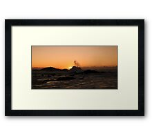 Wave rising to greet the Sun Framed Print