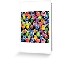cute monsters Greeting Card