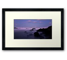 Misty Rocks Framed Print
