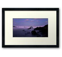 Misty Rocks Framed Print