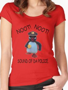 Pingu - NOOT! NOOT! SOUND OF DA POLICE Women's Fitted Scoop T-Shirt