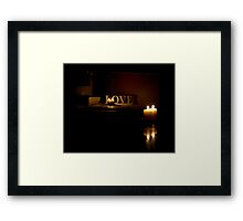 Love from afar... Framed Print